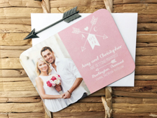 Artistic Arrow Save the Date Card
