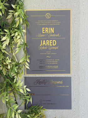 Foil Printed Wedding Invitations