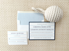 Nautical Stripes Invitation
