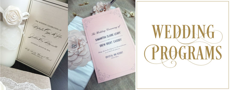 Custom Designed and Printed Wedding Programs