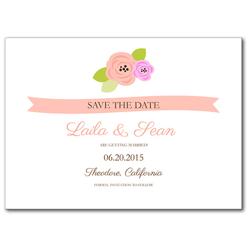 A Bloomed Occasion Save the Date Card