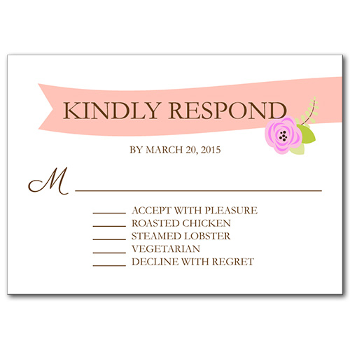 A Bloomed Occasion Response Card
