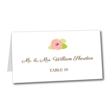 A Bloomed Occasion Table Card