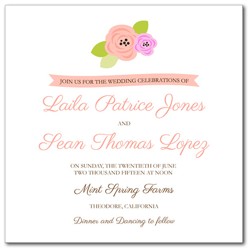 A Bloomed Occasion Wedding Invitation
