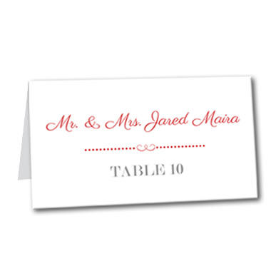 A Bold Display Table Card