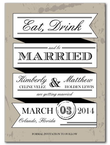 A Dazzling Mix Save the Date Card