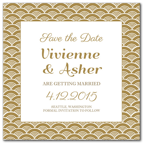 A Festive Event Square Save the Date Card
