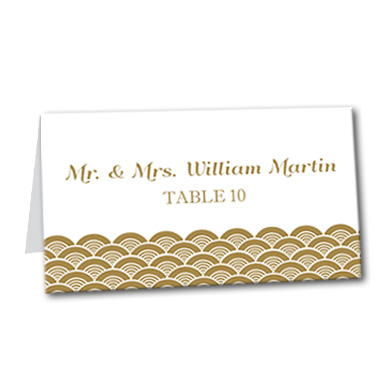 A Festive Event Table Card