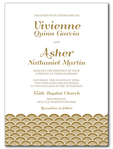 A Festive Event Wedding Invitation