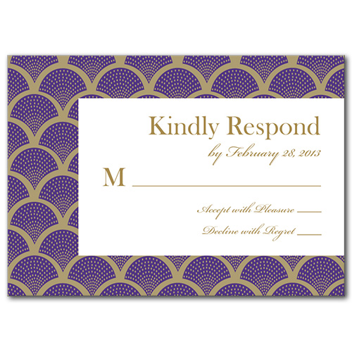 A Royal Gathering Response Card