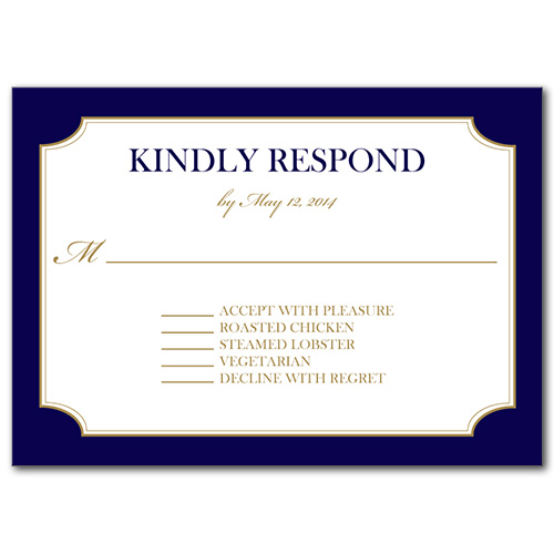A Sailing Affair Response Card