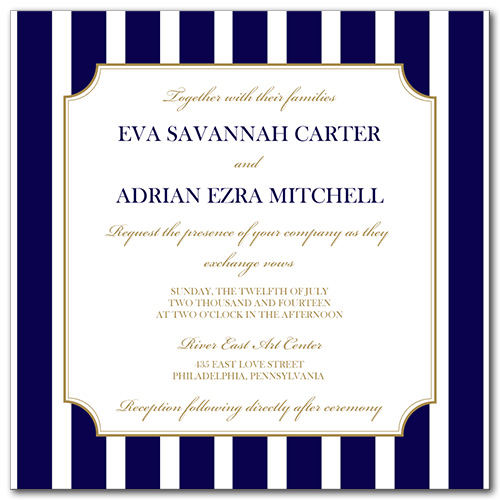 A Sailing Affair Wedding Invitation
