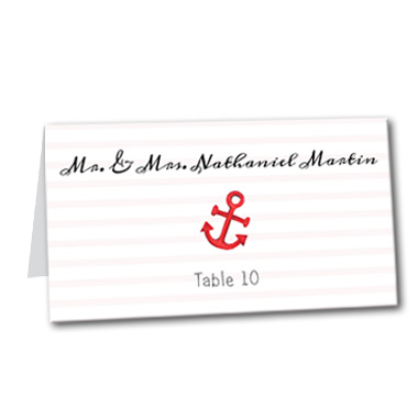 Anchors Away Table Card