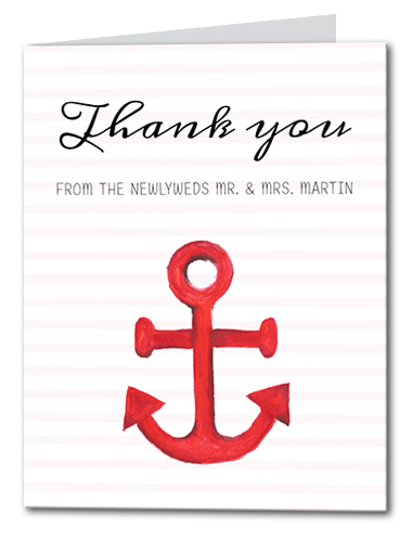 Anchors Away Thank You Card