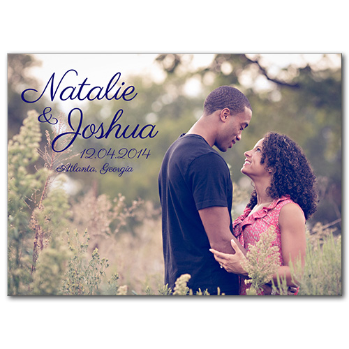 Afternoon Romance Save the Date Card