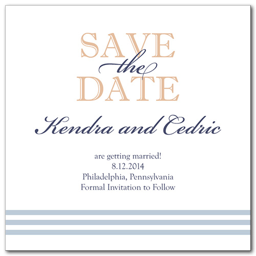 Airy Breeze Square Save the Date Card