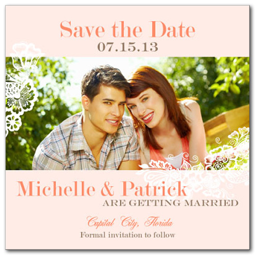 Airy Delight Square Save the Date Card