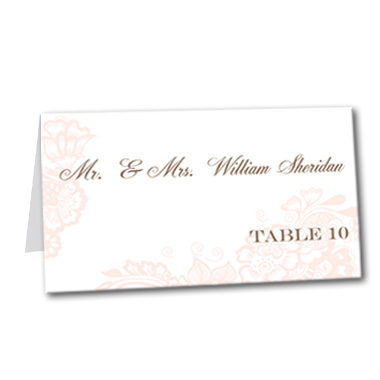 Airy Delight Table Card