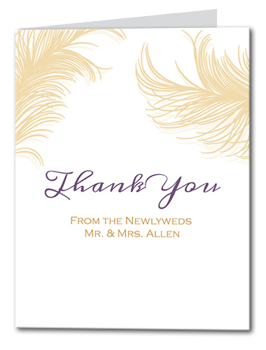 Airy Feathers Thank You Card