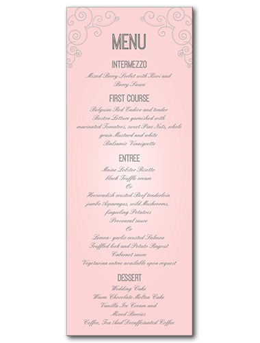 Always and Forever Menu