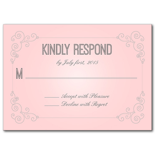 Modern theme weddings always and forever response card stopboris Images