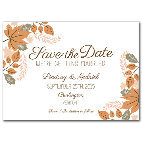 Amazing Autumn Save the Date Card