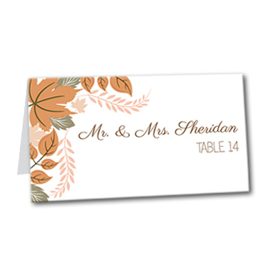 Amazing Autumn Table Card