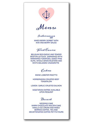 Anchored Love Menu