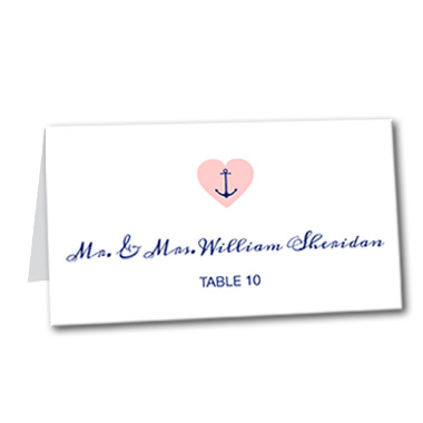 Anchored Love Table Card