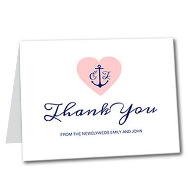 Anchored Love Thank You Card