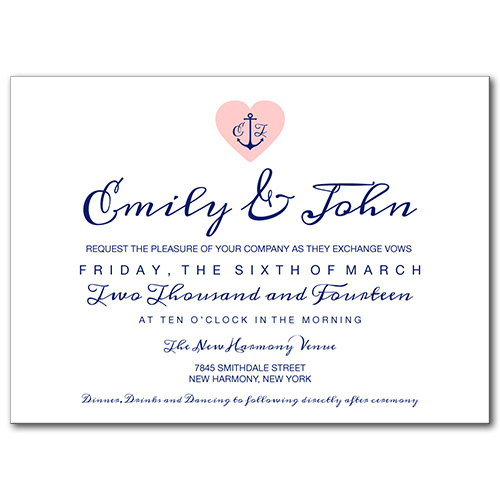 Anchored Love Wedding Invitation