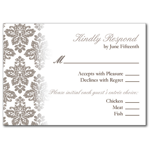 Antique Damask Response Card