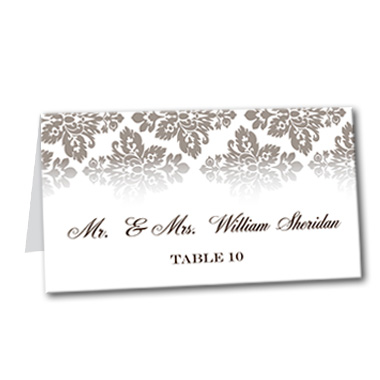 Antique Damask Table Card