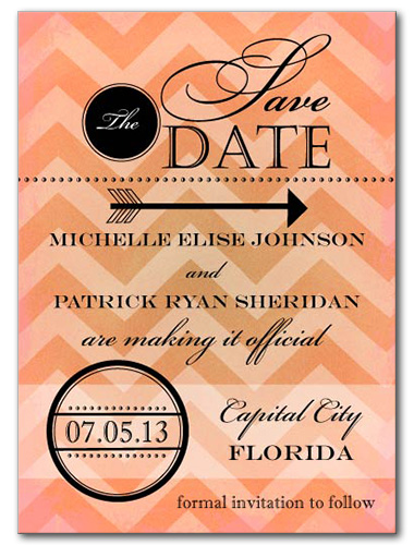 Apricot Cove Save the Date Card