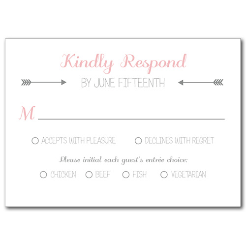 Artistic Arrow Response Card