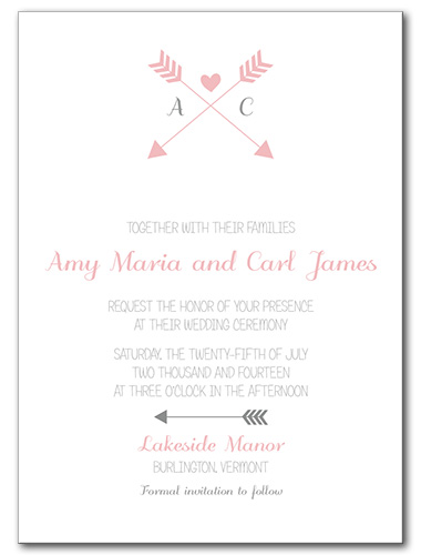 Artistic Arrow Wedding Invitation