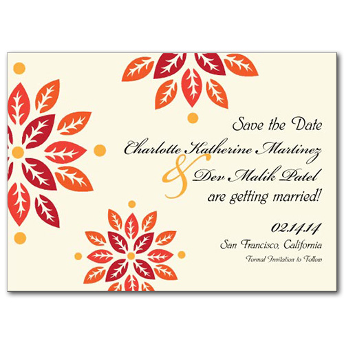 Autumn Bloom Save the Date Card