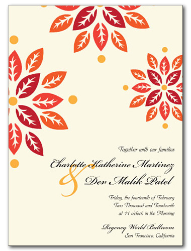 Autumn Bloom Wedding Invitation