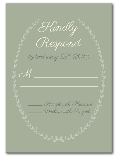 Barnyard Wreath Response Card
