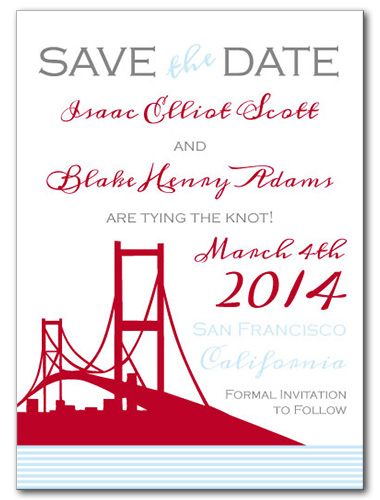 Bay Bridge Bay Save the Date Card
