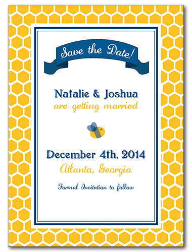 Bee's Knees Save the Date Card
