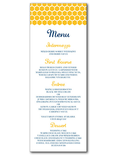 Bee's Knees Menu
