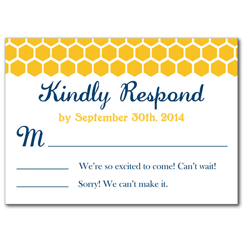 Bee's Knees Response Card