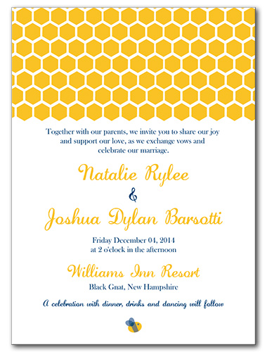 Bee's Knees Wedding Invitation