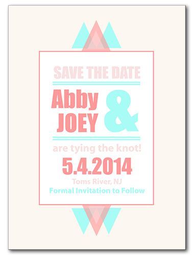 Beyond the Horizon Save the Date Card