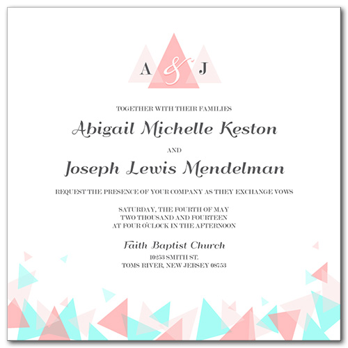 Beyond the Horizon Wedding Invitation