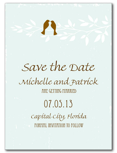 Birds of a Feather Save the Date Card