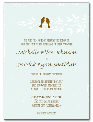 Birds of a Feather Wedding Invitation