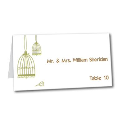 Blissful Birdcage Table Card