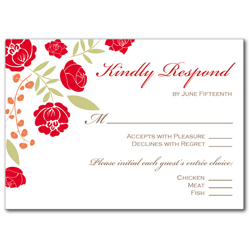 Blissful Bouquet Response Card